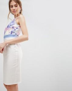 Платье с принтом на юбке Paper Dolls - Белый