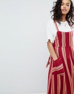 Платье макси в полоску Free People Chanti - Красный