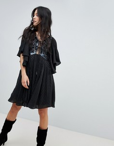 Платье мини Free People Moonglow - Черный
