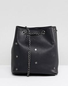 Сумка с заклепками в виде звезд Yoki Fashion - Черный
