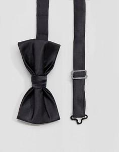 Черный атласный галстук-бабочка Devils Advocate - Черный