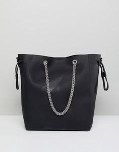 Черная сумка-шоппер London Rebel - Черный