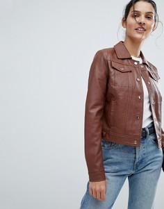 Куртка из искусственной кожи Urbancode Trucker - Рыжий