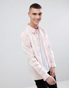 Хлопковая рубашка с длинными рукавами в клетку Another Influence - Розовый