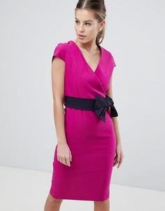 Платье-футляр с бантом Vesper - Розовый