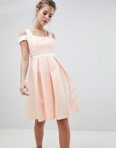 Короткое приталенное платье Vesper - Розовый