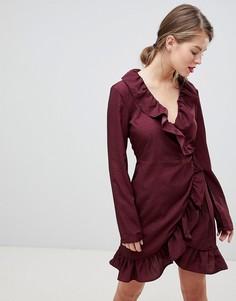 Платье в горошек с запахом Vila - Фиолетовый