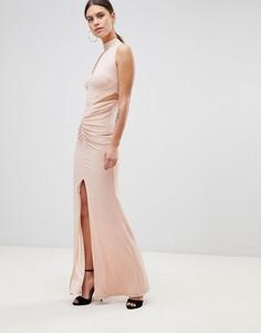 Платье макси с чокером Forever Unique - Розовый