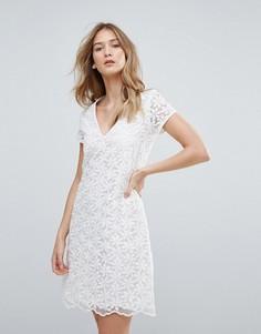 Платье с V-образным вырезом Traffic People - Белый