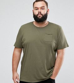 Футболка с необработанными краями кармана Tokyo Laundry PLUS - Зеленый