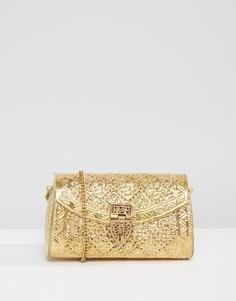 Металлическая сумка с гравировкой ручной работы Park Lane - Золотой