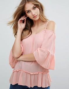 Блузка с баской Vero Moda - Розовый