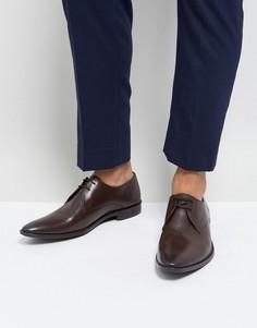 Темно-коричневые кожаные дерби Frank Wright - Коричневый