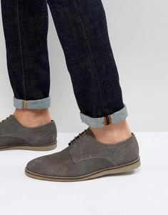 Серые замшевые туфли на шнуровке Frank Wright - Серый