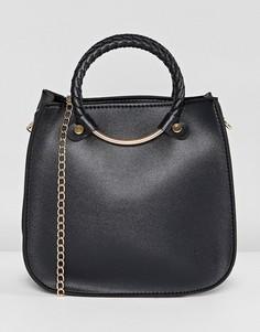 Большая черная сумка Yoki Fashion - Черный