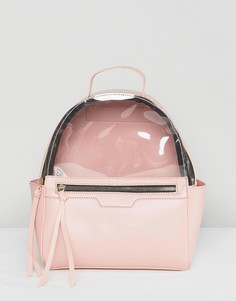 Розовый рюкзак с пластиковой вставкой Yoki Fashion - Розовый