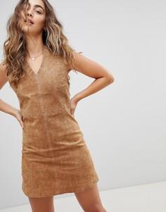Замшевое платье Pepe Jeans New Clare - Коричневый