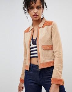 Замшевая куртка в стиле вестерн Pepe Jeans - Коричневый