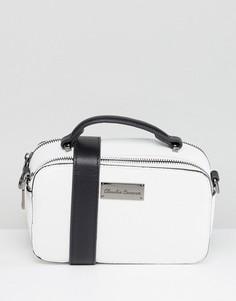 Структурированная сумка через плечо с двумя молниями Claudia Canova - Белый