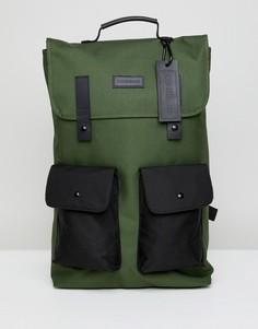 Зеленый рюкзак с двумя карманами Consigned - Зеленый