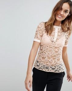Кружевная блузка Vesper - Розовый