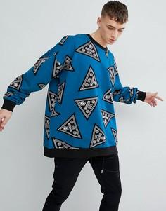 Oversize-свитер с логотипом Love Moschino - Синий
