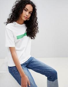 Черная футболка Only - Белый