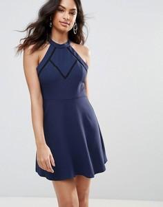 Платье-трапеция BCBG - Темно-синий