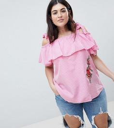 Блузка в клетку Lovedrobe - Розовый