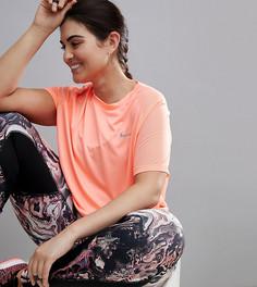 Розовая футболка с короткими рукавами Nike Running Plus - Розовый