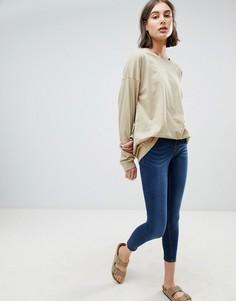 Зауженные джинсы с классической талией Waven Freya - Синий
