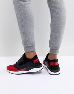 Красно-черные кроссовки Puma Tsugi Shinsei - Черный