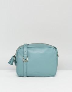 Кожаная сумка через плечо с кисточкой Made - Серый