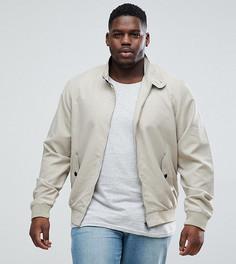 Куртка Харрингтон с подкладкой Brave Soul PLUS - Светло-бежевый