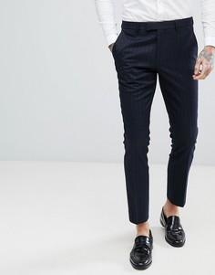 Жаккардовые брюки скинни Harry Brown - Темно-синий