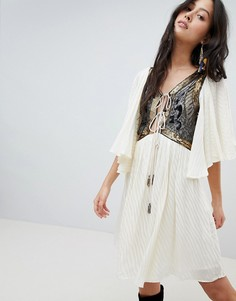 Платье мини Free People Moonglow - Белый