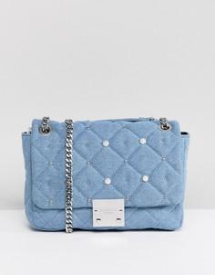668047432405 Джинсовая сумка с отделкой искусственным жемчугом Carvela - Синий