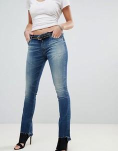 Укороченные джинсы с легким клешем Replay Dominquli - Темно-синий
