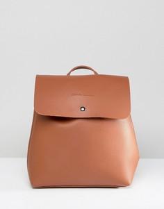 Рюкзак без подкладки с клапаном Claudia Canova - Рыжий