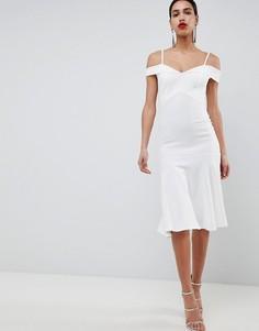 Платье с открытыми плечами Club L - Белый