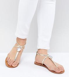 Декорированные сандалии London Rebel - Золотой