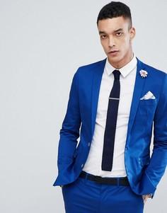 Приталенный пиджак Devils Advocate - Синий