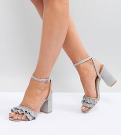 Босоножки на блочном каблуке для широкой стопы Truffle Collection - Серый