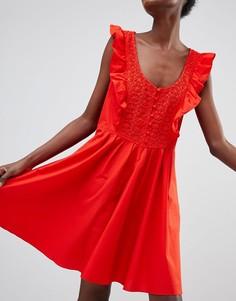 Свободное платье Free People - Красный