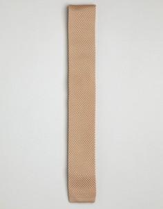 Светло-коричневый вязаный галстук Gianni Feraud - Рыжий