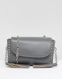 Сумка через плечо с заклепками Yoki Fashion - Серый