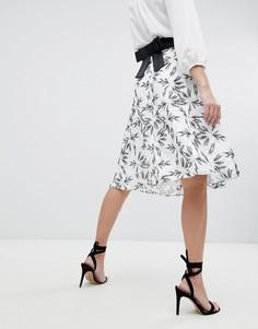 Короткая расклешенная юбка с принтом Vesper - Мульти
