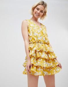 Желтое платье с цветочным принтом Unique 21 - Мульти Unique21