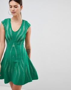 Фактурное платье А-силуэта Forever Unique - Зеленый