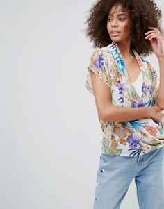 Блузка с тропическим принтом QED London - Мульти